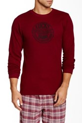Lucky Brand Graphic Thermal Tee Red