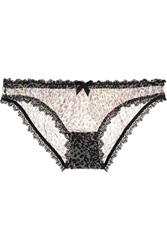 Agent Provocateur Rubi Animal Print Stretch Tulle Briefs