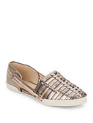 Elliott Lucca Woven Metallic Leather Flats