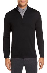Pal Zileri Men's Quarter Zip Wool Sweater