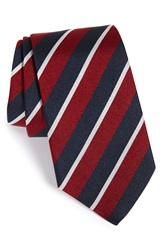 Gitman Brothers Vintage Stripe Silk Tie Burgundy