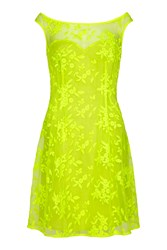 Almost Famous Floral Sweetheart Dress Yellow
