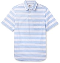 Nn.07 Slim Fit Striped Cotton Shirt Blue