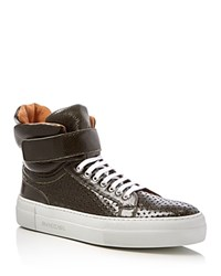 Armando Cabral Mercer Perforated High Top Sneakers Dark Olive Green