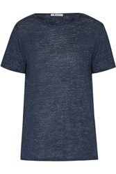 Alexander Wang Heathered Linen Jersey T Shirt Blue