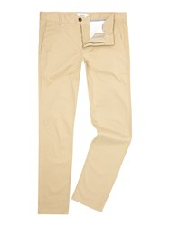 Farah Elm Slim Fit Chino Trouser Beige