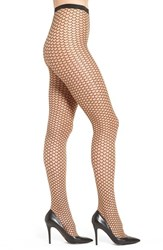 Wolford Women's 'Lilien' Graphic Sheer Tights Gobi Black