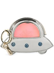 Charlotte Olympia 'Rocket Pocket' Coin Purse Grey