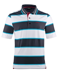 Chervo Andreino Stripe Regular Fit Polo Shirt Navy And White