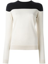 Jil Sander Navy Two Tone Jumper Nude And Neutrals