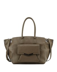 Time's Arrow Jo Large Leather Tote Bag Militaire