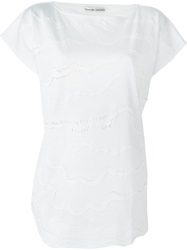 Tsumori Chisato Frayed Wave Applique T Shirt White