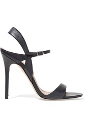 Halston Ainsley Leather Sandals Blue