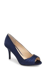 Women's Nina 'Vesta' Peep Toe Pump New Navy