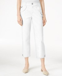 Styleandco. Style Co. Petite Studded Cropped Capri Pants Only At Macy's Bright White