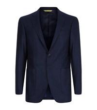 Canali Kei Double Faced Wool Jacket Male Navy