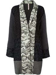 Antonio Marras Multi Print Coat Black