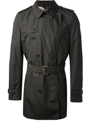Brit Mid Length Trench Coat Black