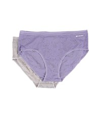 Columbia Pretty Lace Hipster 2 Pack Caset Storm Women's Underwear Purple