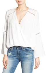 Lush Women's Surplice Front Blouse