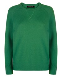 Jaeger Wool Crew Neck Sweater Green