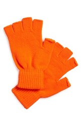 Men's The Rail Fingerless Gloves Orange 2 For 16