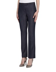 Tahari By Arthur S. Levine Plus Ankle Length Pants With Rear Pockets Chambray Blue
