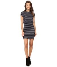 Culture Phit Lannette Short Sleeve Dress Navy Women's Dress