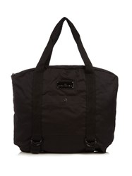 Adidas By Stella Mccartney Yoga Cotton Canvas Tote Black