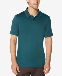 Perry Ellis Men's Performance Polo Bright Reflecting Pond