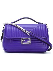 Fendi Micro 'Double Baguette' Crossbody Bag Pink Purple