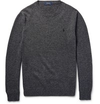 Polo Ralph Lauren Melange Cotton Sweater Dark Gray