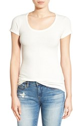 Project Social T Women's Ribbed Scoop Neck Tee Ivory