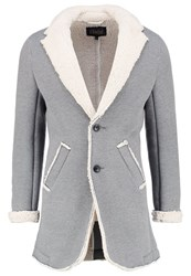 Solid Edris Short Coat Grey Mottled Grey