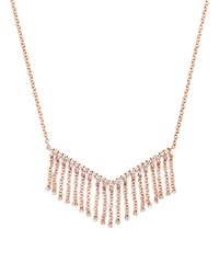 Bloomingdale's Diamond V Pendant Necklace With Fringe In 14K Rose Gold .20 Ct. T.W.