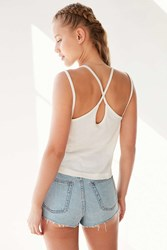 Bdg Teeny Placket Tank Top Ivory