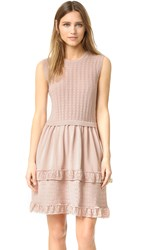 Red Valentino Pointelle Ruffle Dress Nude