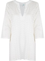Sub V Neck Kaftan White