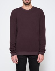 John Elliott Oversized Thermal Crew Maroon