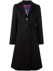 Salvatore Ferragamo Single Breasted Coat Black
