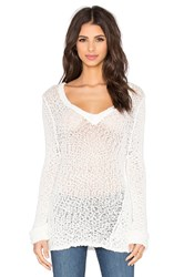 Feel The Piece Aren V Neck Sweater White