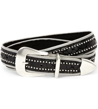 Paige Keegan Leather Belt Black