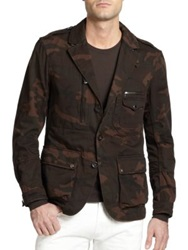 Ralph Lauren Black Label Camo Sportcoat Brown Camo