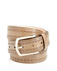 Tiberio Ferretti Perforated Bands Leather Belt Grey