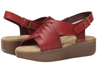 Bass Sadie Oxcblood Leather Women's Sandals Red