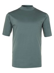 Topman Lux Forest Green Turtle Neck T Shirt