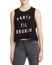 Project Social T Party Brunch Tank Distressed Black
