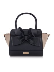Lipsy Black Bow Tote Bag Black