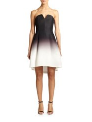 Halston Ombre Faille Strapless Dress Black Glow