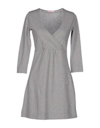 Sun 68 Dresses Short Dresses Women Light Grey